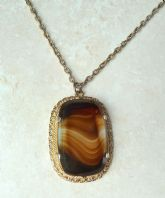 Vintage Art Glass Pendant And Necklace By Sphinx